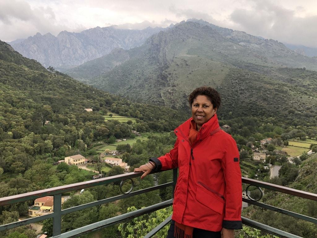 Roselyne à la montagne